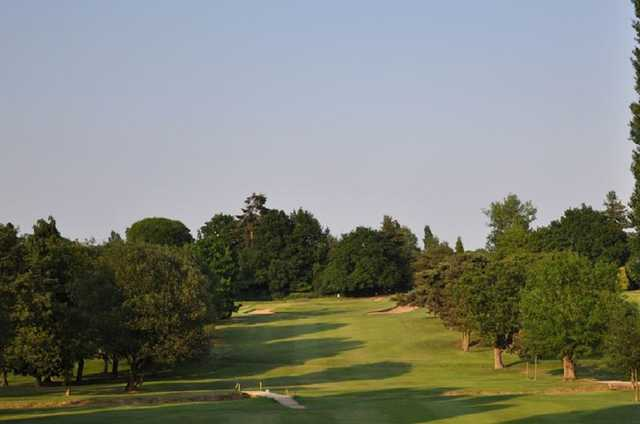 The 15th hole of the Hearsall golf course