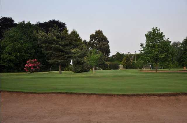 The 18th hole of the Hearsall golf course