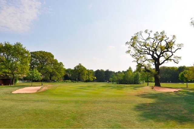 The 13th hole of the Hearsall parkland golf course