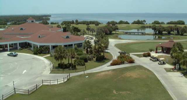 A view of the clubhouse at Cocoa Beach Country Club