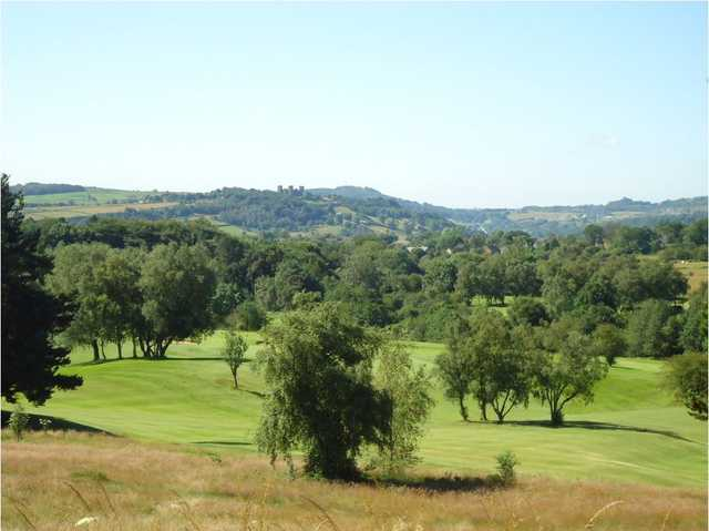 The castle view of Matlock Golf Course