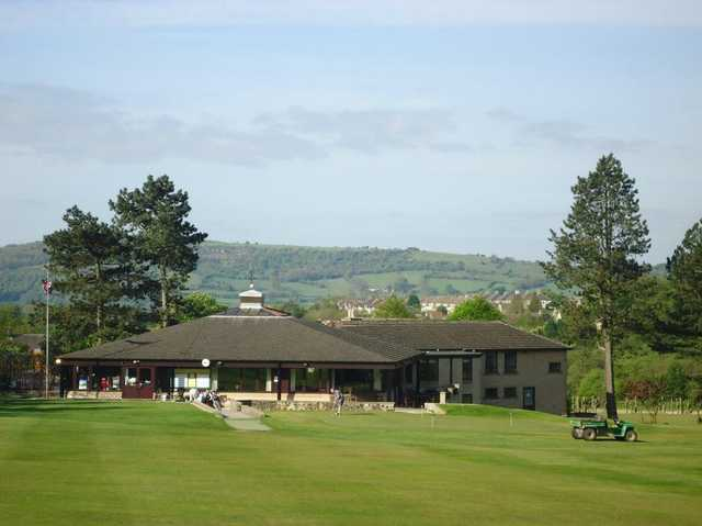 View of the clubhouse at Matlock GC