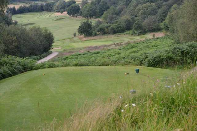 The down hill approach on the Matlock golf course