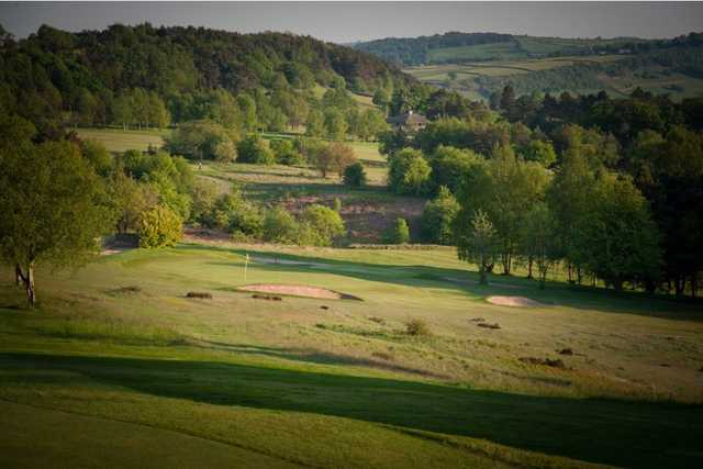 A fantastic view of the landscape surrounding Matlock golf course