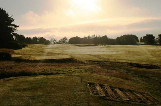 Bolton Old Links golf course at sunrise