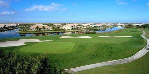 A view of green #15 - the largest on the course at Heron Bay Golf Course