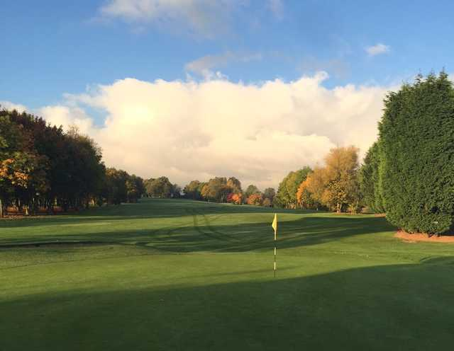 The final greens of the golf course