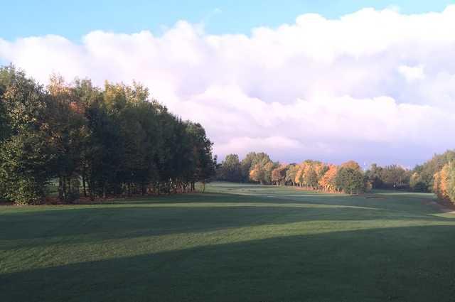 The golf course fairways