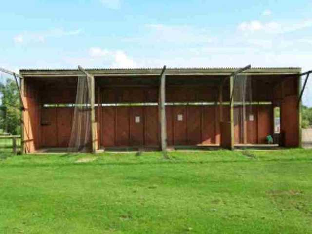 The driving range at Elton Furze