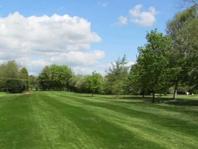 The green fairway of the 2nd hole