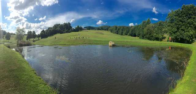The pond at Bovey Tracey Golf Course