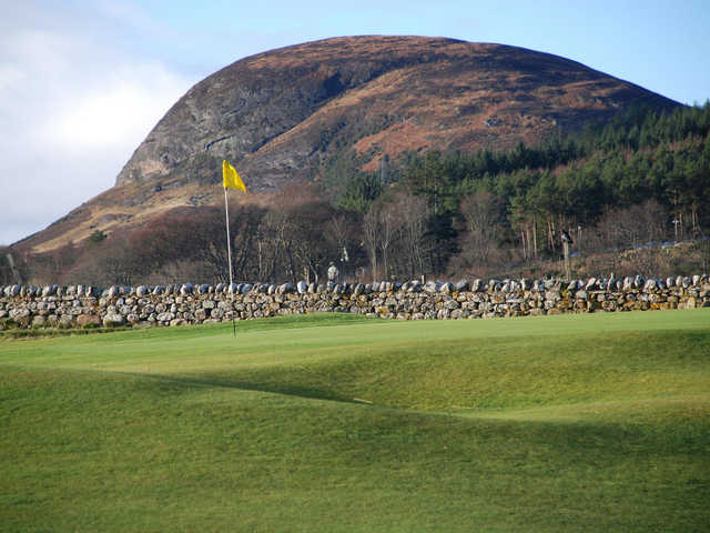 View of the 1st green at Golspie Golf Club