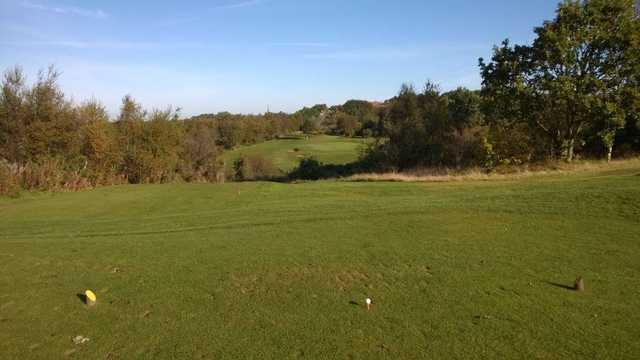 View from the tee of the challenging 5th hole at Ravensworth Golf Club