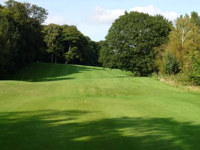 The undulating fairway leading to the 3rd green at Market Drayton