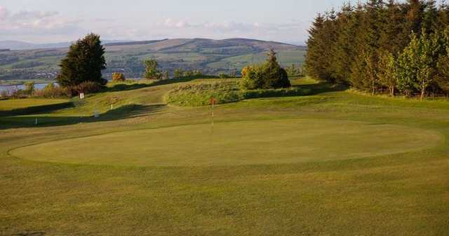 A look back from the 17th green at Port Glasgow Golf Club