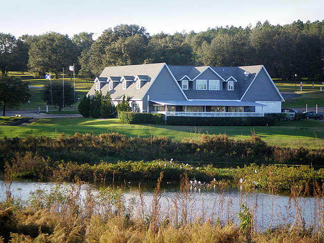 A view of the clubhouse at Scotland Yards Golf Club