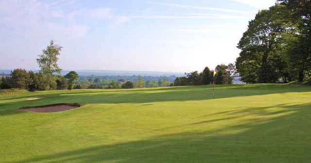 The views from the 10th green at The Mendip Golf Club