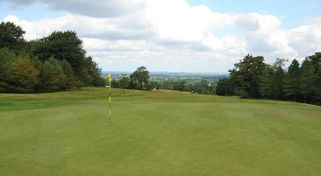 2nd green, The Mendip Golf Club