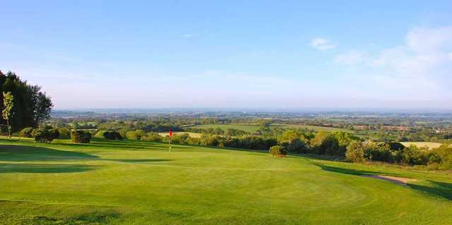 Looking out over Somerset from the 5th green at The Mendip Golf Club