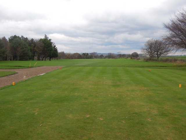 A view from the 14th tee with out of bounds right