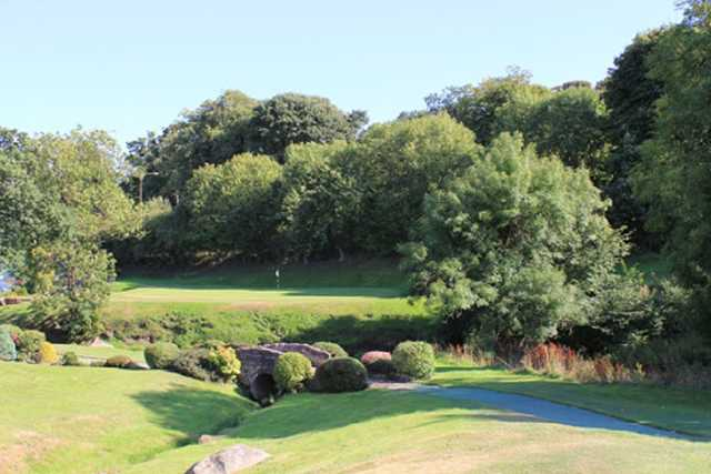 This is the lovely 16th hole of the Uphall Golf Course