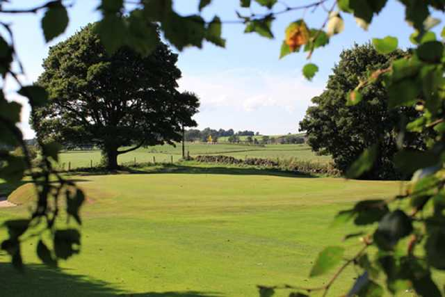 This is the green of the first hole on the Upthall Golf Course