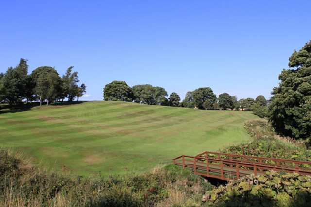 A landscape shot of the 2nd hole fairway