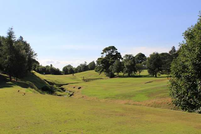 The 3rd green of the Uphall Golf Course