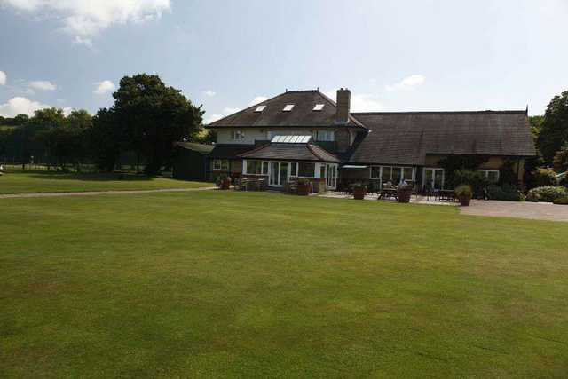 The clubhouse at Etchinghill Golf Club
