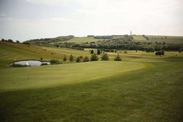 Well manicured greens at Etchinghill Golf Club