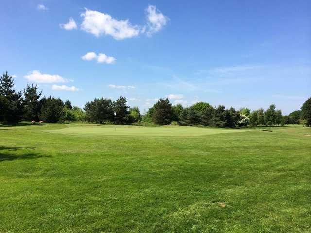 The 17th green at Prenton Golf Club