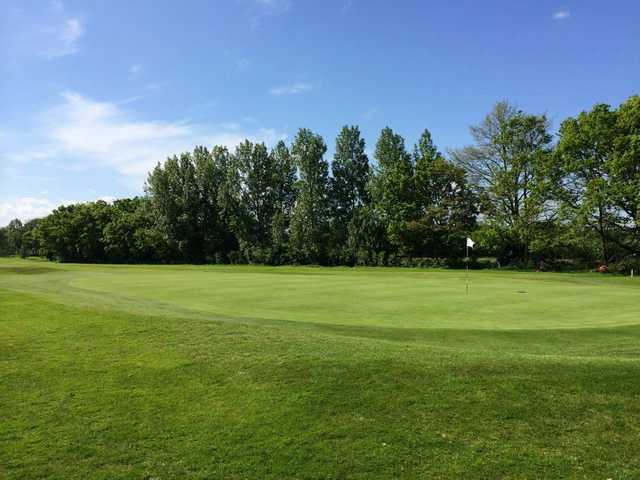 The 13th green at Prenton Golf Club