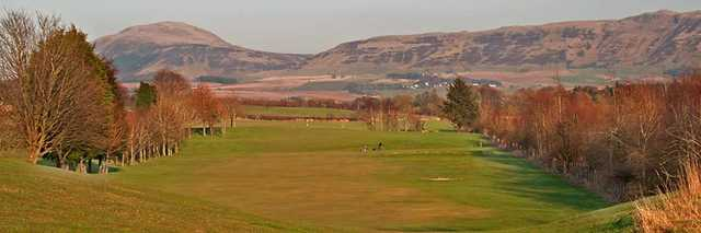 The scenic 4th hole at Milnathort Golf Club