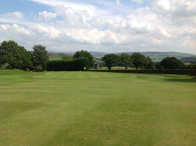 The 18th green on Disley golf course