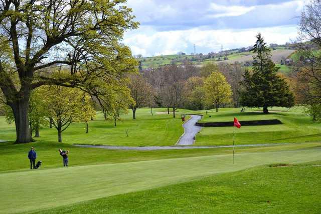 The par-3 4th hole at Larne Golf Club