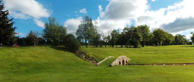 The bridge on the 9th hole at Kilsyth Lennox Golf Club