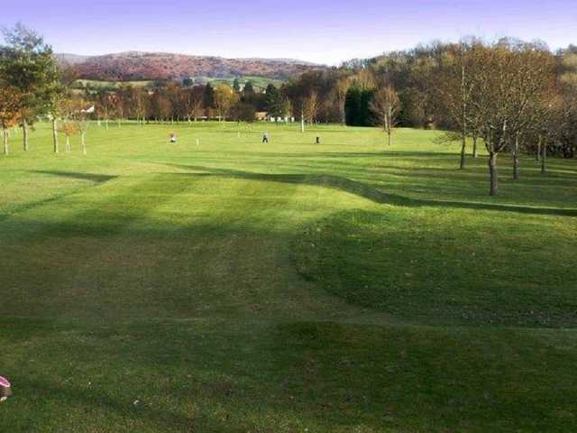 Builth Wells golf course fairways