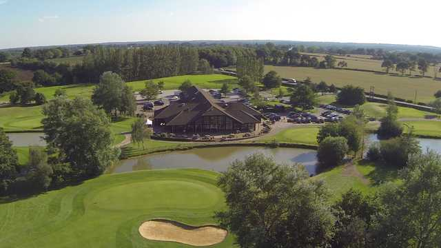 An aerial vew of the Weald of Kent clubhouse