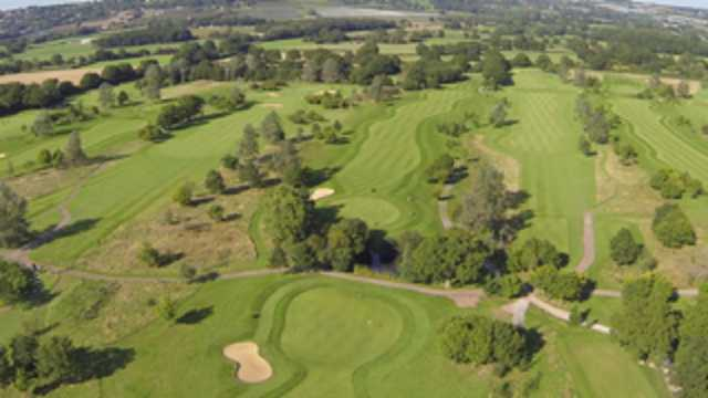An aerial view of the Weald of Kent golf course