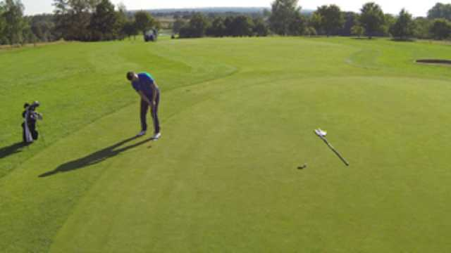 The 1st green of the Weald of Kent course