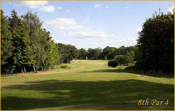 The fairway leading to the 8th green at Chobham