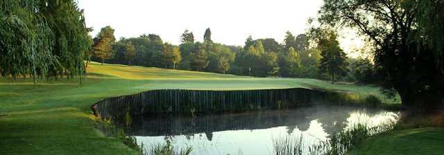 A dangerous water hazard at Eaglescliffe Golf Club