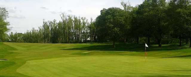 Looking back from the green at Clober Golf Course