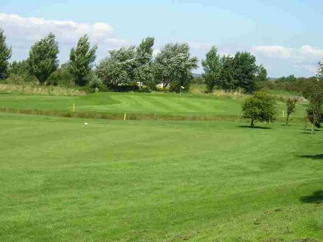 View of the 1st green at Brean Golf Club