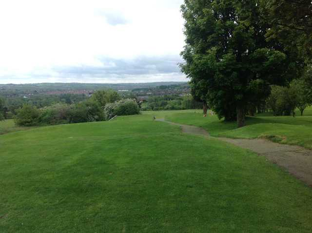 The opening tee shot at Burslem Golf Club