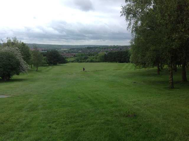 The 1st hole at Burslem Golf Club