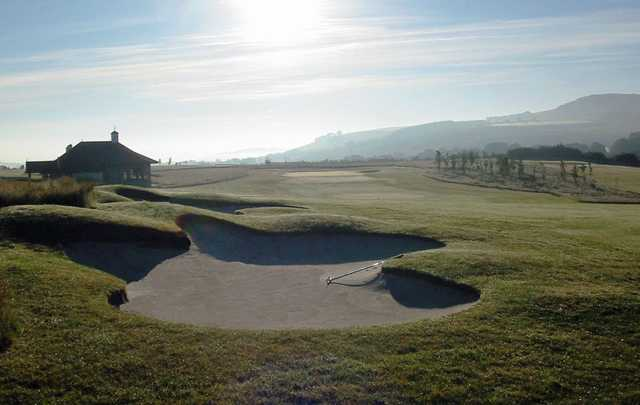 The 18th's bunkers at Elmwood