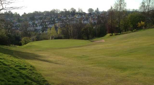 A downhill fairway to the 16th green at Douglas Park Golf Club