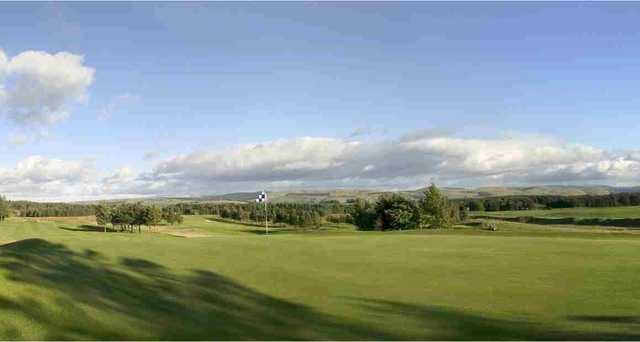 The 7th hole on the West Linton Golf Course