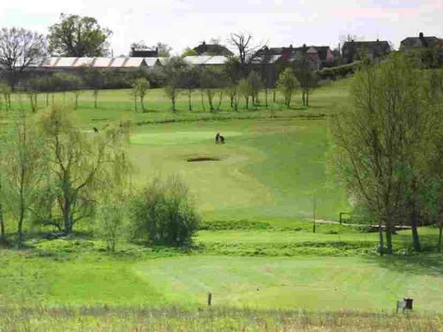 The 2nd hole at Notleys GC